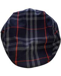 Burberry Kaschmir Hüte mützen - Blau