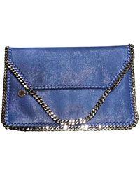 Stella McCartney Falabella Leinen Clutches - Blau