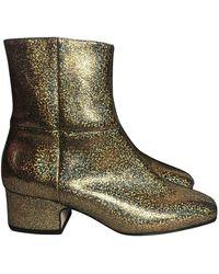 JOSEPH - Gold Leather - Lyst