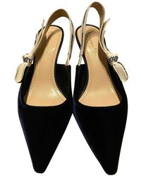 Dior J'a Blue Velvet Heels