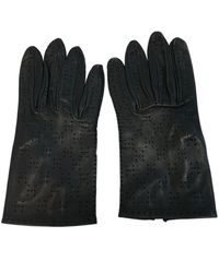 Hermès Blue Leather Gloves
