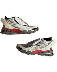 CALVIN KLEIN 205W39NYC Leather Sneakers - Metallic
