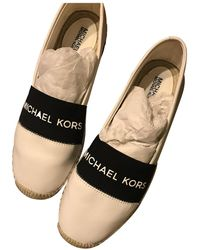 Michael Kors Leather Espadrilles - White