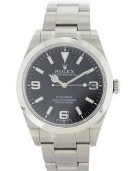 Rolex - Pre-owned Explorer 39mm Silver Steel Watches - Lyst