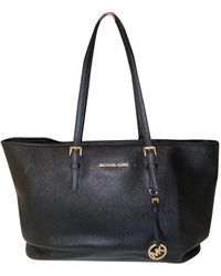 Michael Kors Jet Set Leather Tote - Black