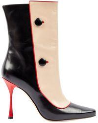 Manolo Blahnik \n Multicolour Leather Boots - Black