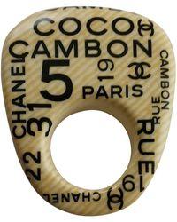 Chanel Bagues Écru - Multicolore
