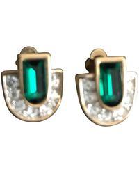 Nina Ricci Gold Metal Earring - Metallic