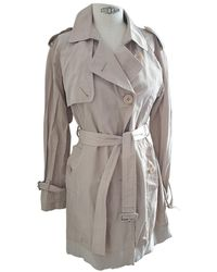 Moncler - Beige Cotton Trench Coats - Lyst
