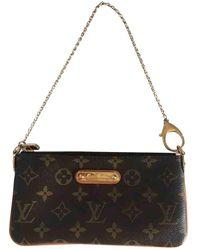 Louis Vuitton Milla Brown Cloth Handbag