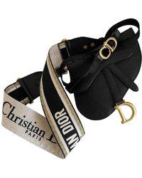 Dior Pochette Saddle de Cuero - Negro