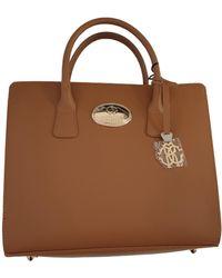 Roberto Cavalli Leather Crossbody Bag - Brown