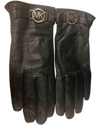 Michael Kors Leather Gloves - Black