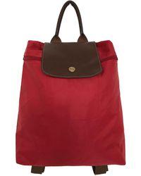 Longchamp Sac à dos Pliage en toile - Rouge