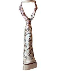 Louis Vuitton Beige Silk Scarves - Natural