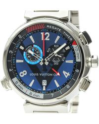 Louis Vuitton Tambour Blue Steel Watch