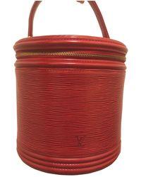 Louis Vuitton Bolsa de mano en cuero rojo Cannes