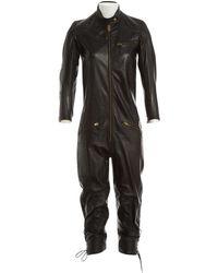 Chloé - Leather Jumpsuit - Lyst