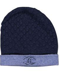 Chanel Cappelli in cachemire marina - Blu