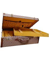 Goyard Brown Cloth Travel Bag - Multicolor