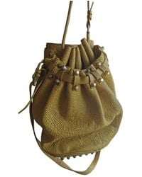 Alexander Wang Diego Leather Handbag - Yellow