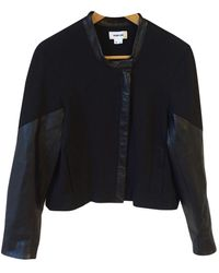 Helmut Lang - Black Cotton Leather Jacket - Lyst