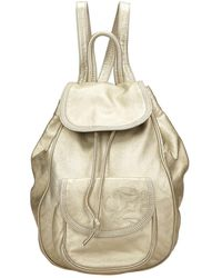 Loewe - Backpack Gold Leather - Lyst