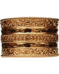 Chanel - Gold Metal Bracelet - Lyst
