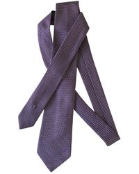 Louis Vuitton Silk Tie - Purple