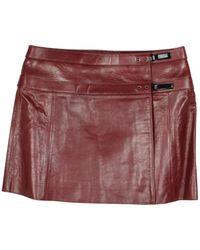 d2d6f21a43 Belstaff Arden Leather Skirt in Black - Lyst