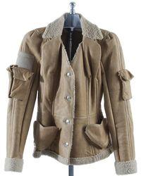 Dior Vest en Suede Beige - Multicolore