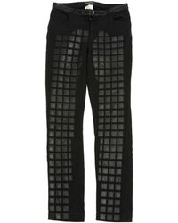 Chanel | Pre-owned Black Cotton - Elasthane Jeans | Lyst