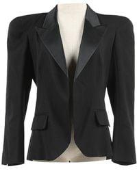 Balmain - Black Wool Jacket - Lyst