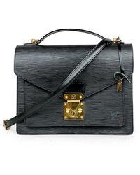 Louis Vuitton Monceau Leder Cross Body Tashe - Schwarz