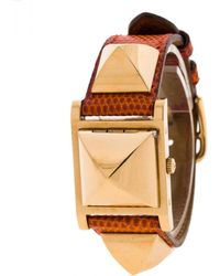 Hermès - Médor Gold Gold Plated Watches - Lyst
