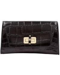 Diane von Furstenberg \n Black Leather Clutch Bag