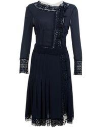 Valentino Navy Silk Dress - Blue
