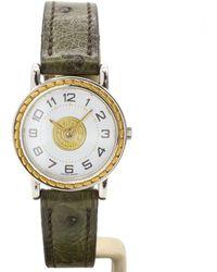 Hermès Sellier Uhren - Mettallic