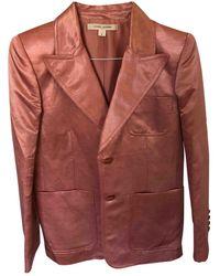 Marc Jacobs Linen Blazer - Red