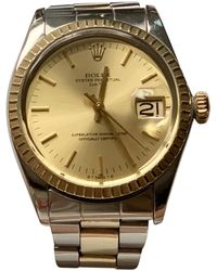 Rolex Oyster Perpetual 34mm Watch - Yellow