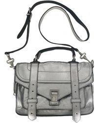 Proenza Schouler - Ps1 Tiny Silver Leather Handbag - Lyst