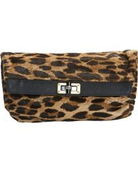 Lanvin - Pre-owned Pony-style Calfskin Clutch Bag - Lyst