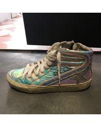 Golden Goose Deluxe Brand Slide Leder Sneakers - Mehrfarbig