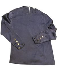 Chanel Vintage Blue Silk Top