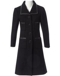 Chanel Abrigo en cachemira negro