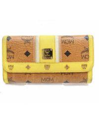 MCM Yellow Cloth Wallet