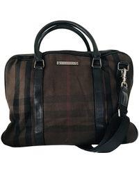 Burberry Brown Cloth Bag