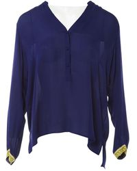Emilio Pucci Camisa en seda violeta - Azul