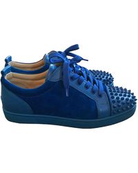 Christian Louboutin Louis junior spike Niedrige turnschuhe - Blau