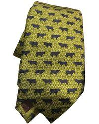Loewe Green Silk Ties